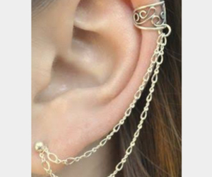 chain, ear, and earring image