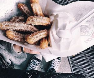food, delicious, and churros image