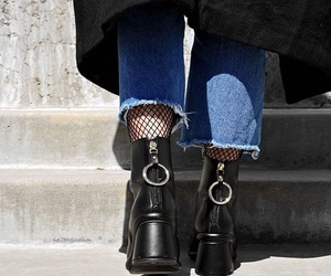 boots, denim, and jeans image