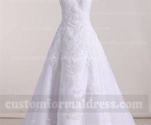 lace wedding dresses and a line wedding dresses image