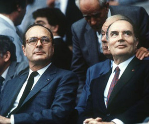 Chirac and mitterand image