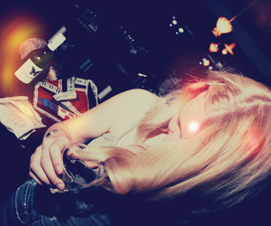 drink, girl, and drunk image