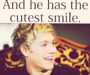 one direction, niall horan, and smile image