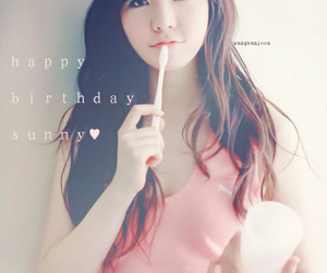 snsd, hbd, and Sunny image