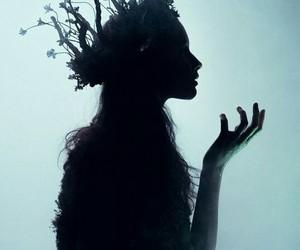 fantasy, crown, and black image