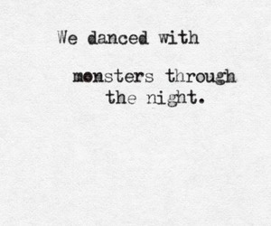 quotes, monster, and night image