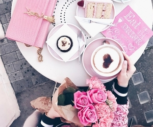pink, cake, and style image