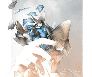 boy, fanart, and butterfly image