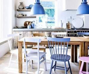 kitchen, blue, and design image