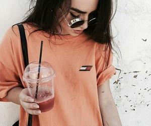 drinks, girl, and hair image