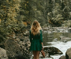 forests, girl, and nature image