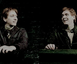 fred and george, harry potter, and weasley image