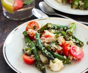 food, salad, and vegetable image