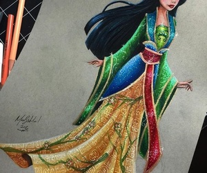 disney, princess, and mulan image