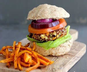 burger, sweet, and food image