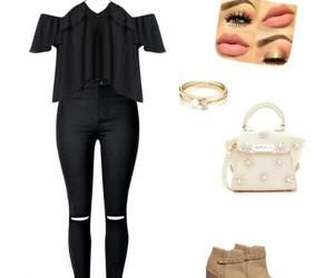 bag, black, and clothing image