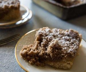 cake, sour cream, and crumb cake image