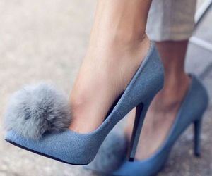 blue, fashion, and heels image
