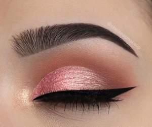 makeup, overlay, and pink image