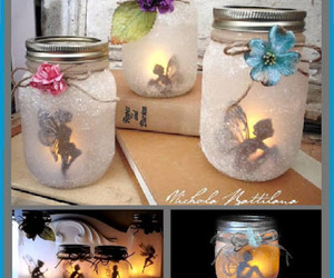 crafts, mason jars, and diy lantern image