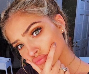 blonde, bun, and eyebrows image