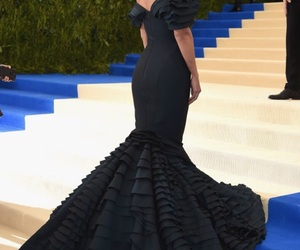 black, dress, and Katie Holmes image