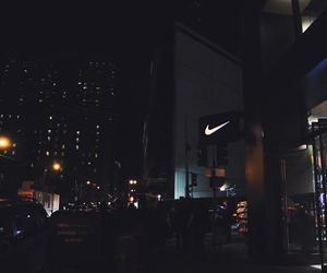 city, night, and nike image
