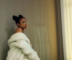 fashion, fur coat, and hair image
