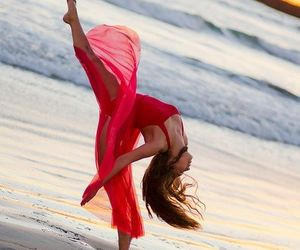 beach, dance, and red image