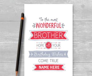 birthday, name, and brother birthday cards image