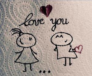 ♥, love you, and love image