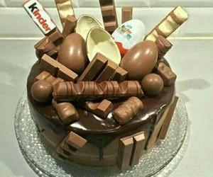 chocolate, cake, and kinder image