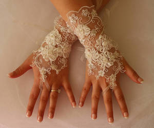 etsy, bridal gloves, and wedding accessory image