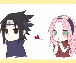 background, sasuke uchiha, and sasusaku image