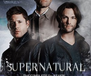 crowley, dean winchester, and sam winchester image