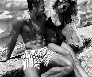black and white, perfect boyfriend, and couple goals image