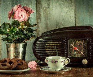vintage, retro, and radio image