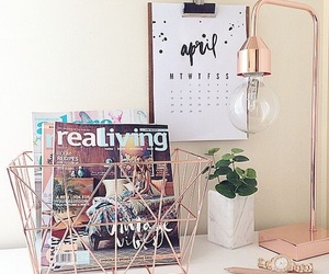 decor, home, and rose gold image