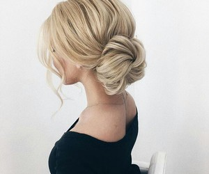 blonde, fancy, and hair image