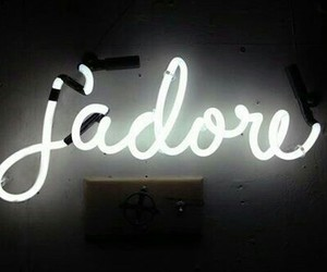 french, neon, and lights image
