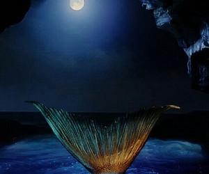 mermaid, magic, and moon image