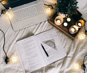 beautiful, candles, and computer image