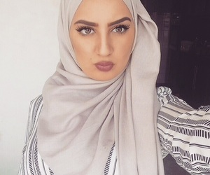 headscarf, hijab, and selfie image