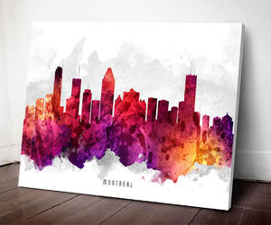 etsy, montreal canadians, and montreal skyline image