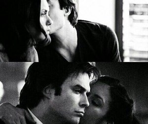 kiss, the vampire diaries, and delena image