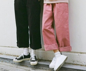 fashion, pants, and pink image