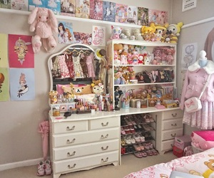 bed, kawaii, and lolita image