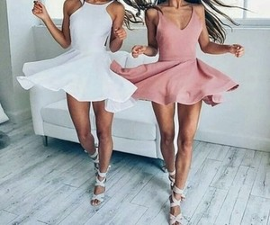 beauty, besties, and dresses image