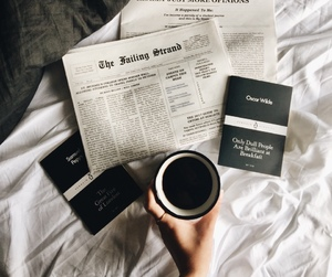 coffee, lifestyle, and newspaper image