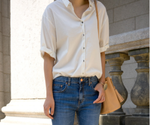 blouse, button down shirt, and casual image